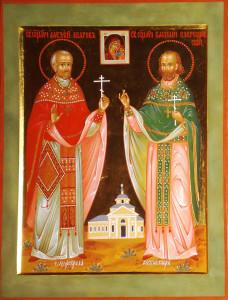 Икона священномучеников Алексия (Шарова) и Василия (Озерецковского) в селе Молоково